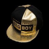 TEEMI Snapback Hip Hop Hats Adjustable Baseball Cap BIGBOY - Metallic Gold