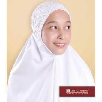 Telekung Siti Khadijah Classic Signature (White) (One Set- telekung & kain) - 2