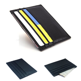 Harga Thin first layer of leather card package men leather credit smallclip Bus card sets thin section card package (Red wine)