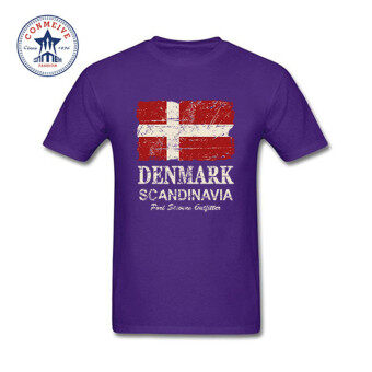 THW Mens fashion short sleeve t-shirts 2017 Funny Graphic FunnyDenmark Flag Cotton Funny t shirt for men