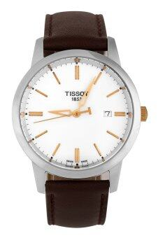 Tissot Men's Black Leather Strap Watch T033.410.26.011.01