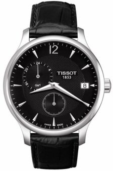 Tissot Men's Black Leather Strap Watch T063.639.16.057.00