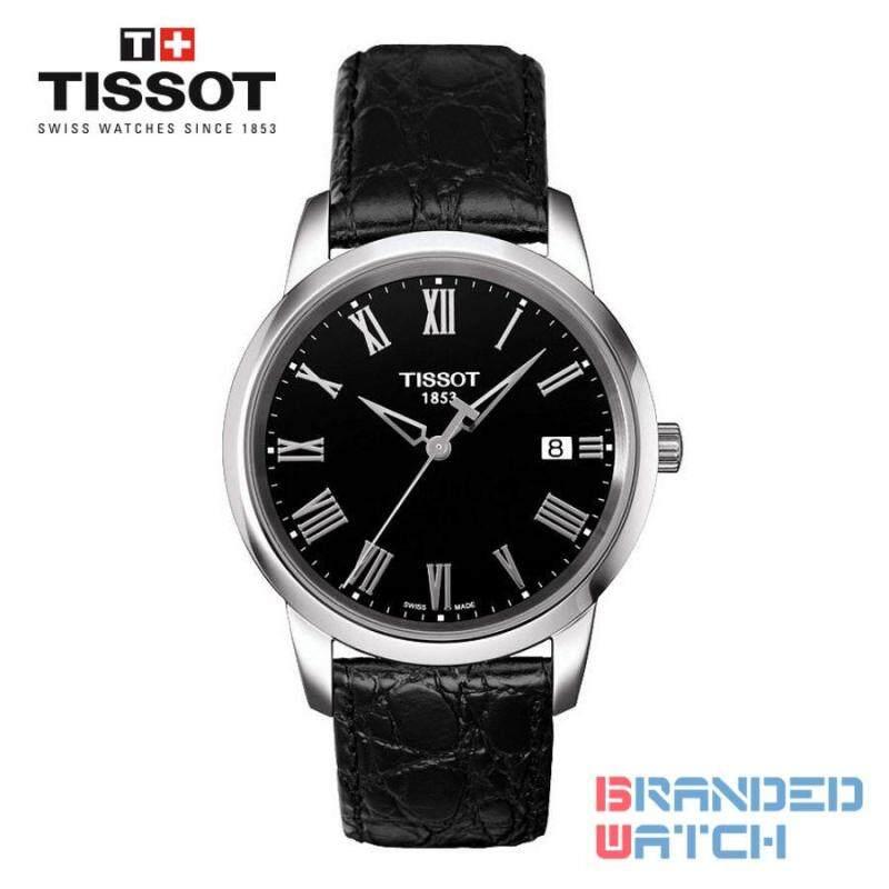 Tissot T033.410.16.053.01 Mens Classic Dream Quartz Leather Watch (Black) Malaysia