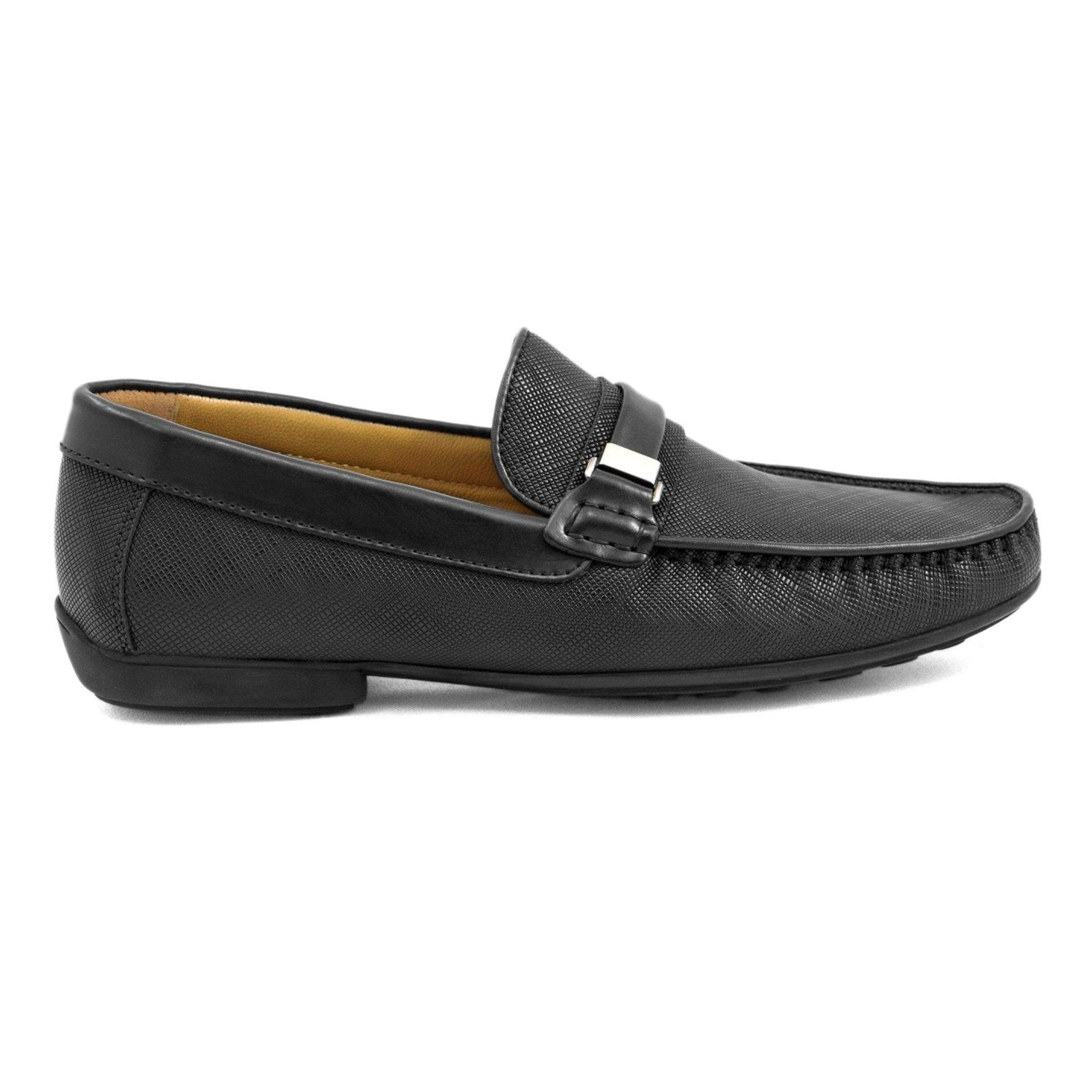 Tomaz C255 Buckled Loafers (Black)