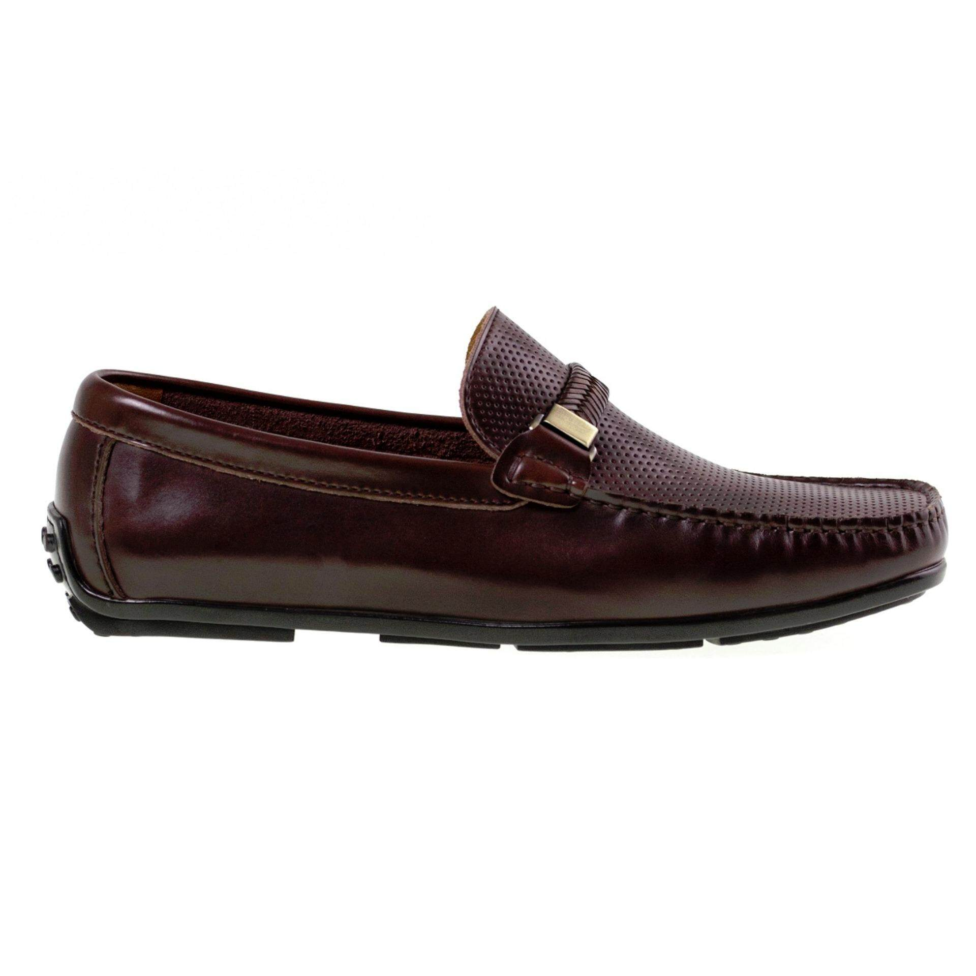 Tomaz C276 Perforated Braided Loafers (Coffee)
