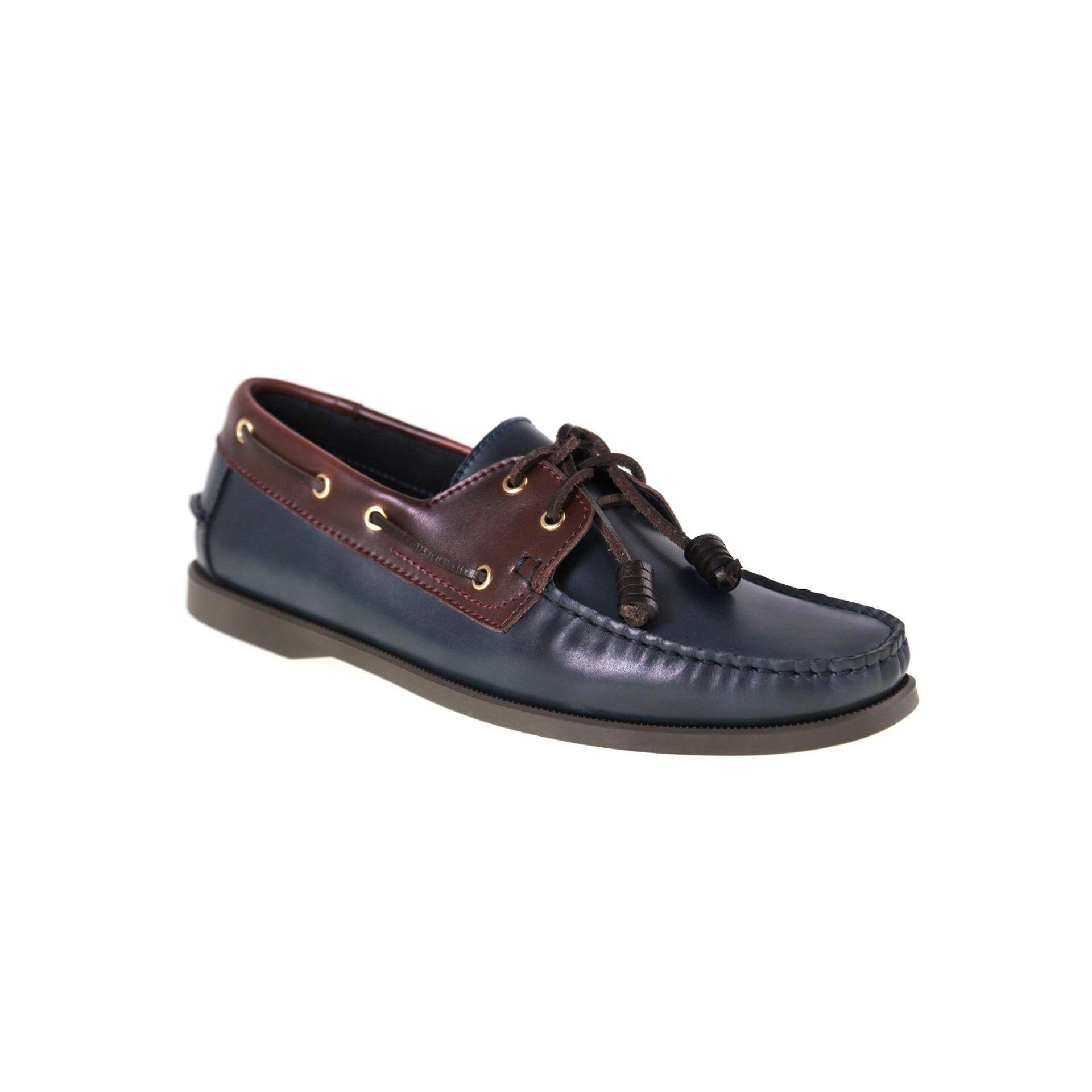 Tomaz C999B Leather Boatshoes (Navy)