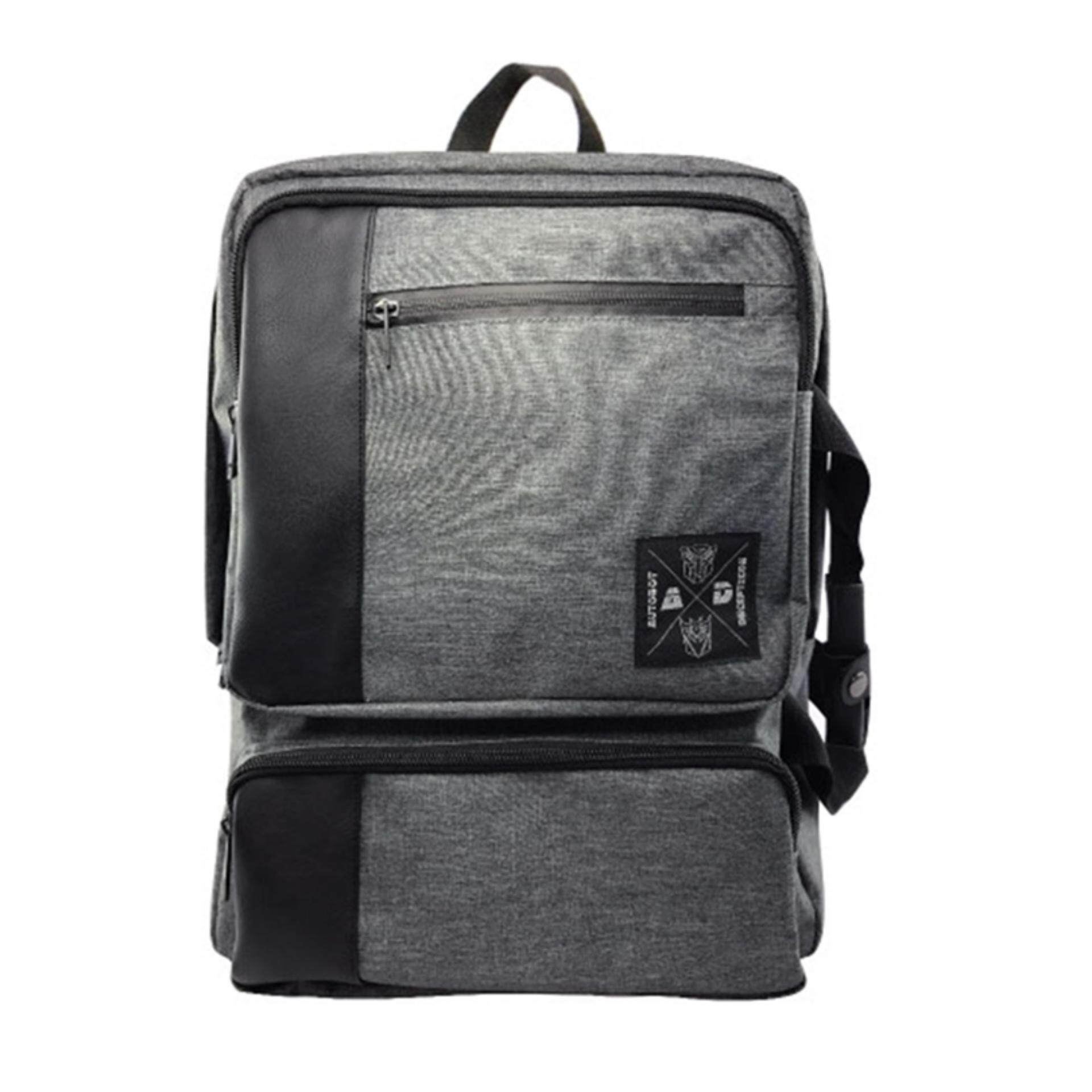 Transformers The Last Knight Adult Backpack School Bag - Grey Colour