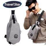Travel Star 1972 Korean Style Premium Shoulder Bag With Earphone Cable Entry - Grey