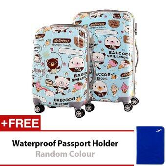 Travel Star TS020 Ultralight Weight Luggage 2 in1 Set 20 Inch+24 Little Bear