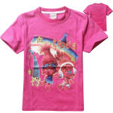 ราคา Troll Girls 4 13 Years Old 105 155Cm Body Height Soft Cotton T Shirt Tops Color Rose Red ใน จีน