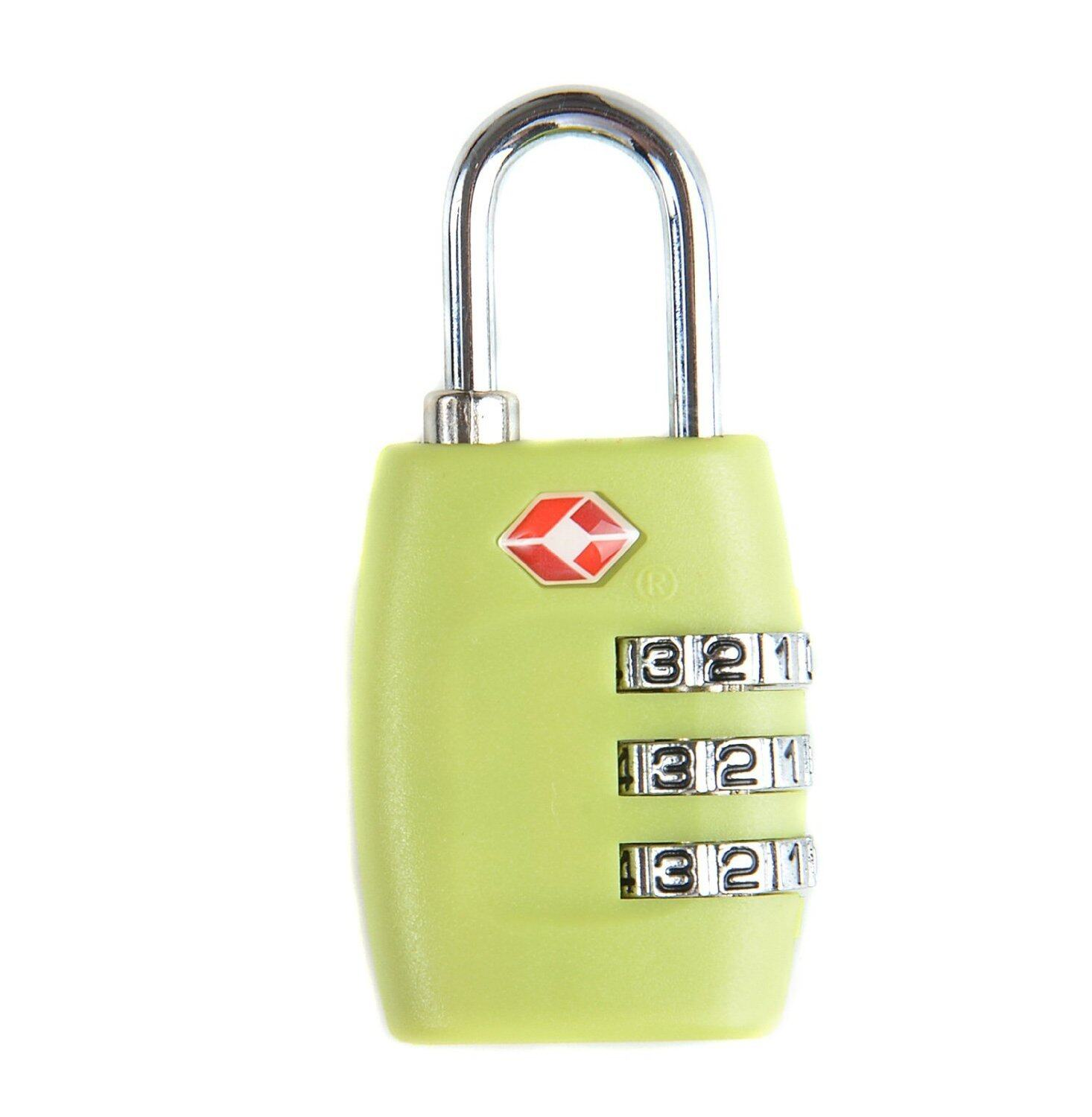 TSA Resettable 3 Digit Combination Safe Travel Luggage Bagasi Suitcase Code Lock Green