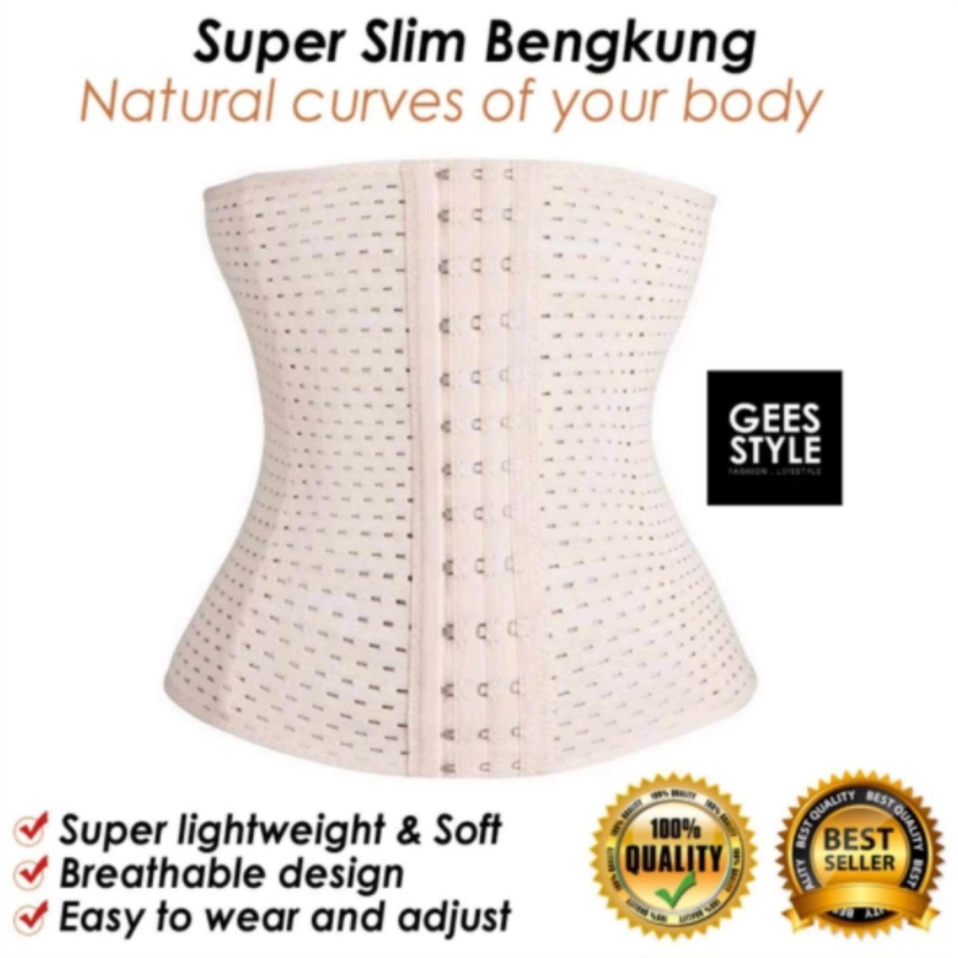 UltraSlim Corset Body Shaping Waist Girdle Tummy Control Slimming Belt Bengkung (BLACK) LOCAL SELLER