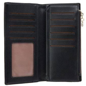 UNISA Textured Bi-Fold Long Ladies Wallet (Black) - 5