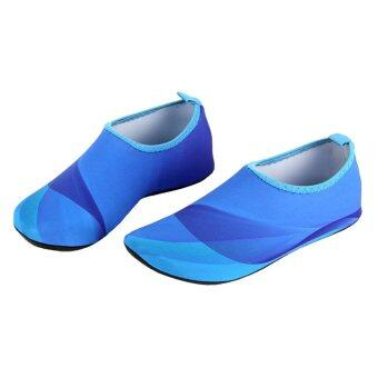Harga Unisex Lightweight Aqua Beach Shoes Water Sport Shoes (Blue)
