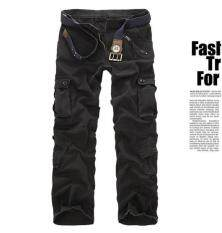ราคา Us Army Men S Camouflage Pure Cotton Cargo Pants Color Black ใหม่