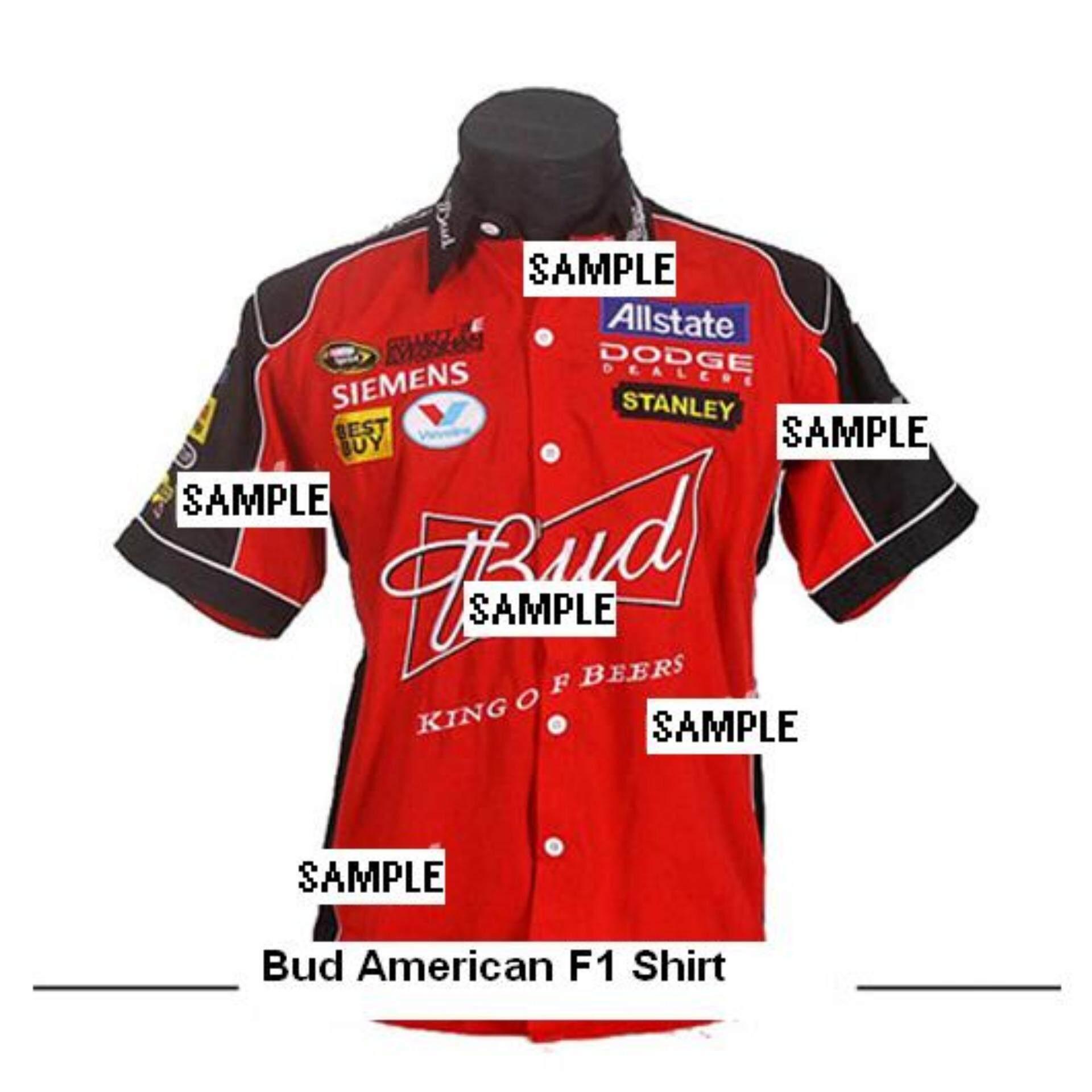 USA Nascar Racing Bud American F1 Shirt Red Color