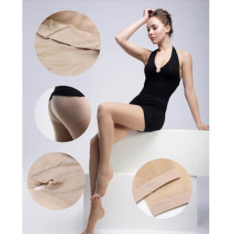 Harga Vanker New Amazing Sexy Lovely Women Open Toe Toeless Ultra-Thin Pantyhose Tights Socks(Nude)
