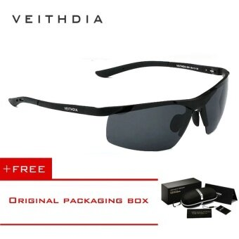Harga VEITHDIA Aluminum Magnesium Polarized Lens Mens Sunglasses DriverMirror Sun glasses Male Fishing 6501 (Black) [ free gift ]