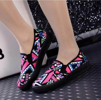 Victory Women's Fashion Sneakers Flat heel Canvas casual shoes multicolor (Pink) - 5
