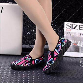 Victory Women's Fashion Sneakers Flat heel Canvas casual shoes multicolor (Pink) - 4
