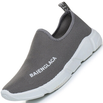 Vigorous Old Beijing Summer breathable men's shoes Shoes (Gray) (Gray)