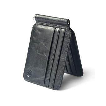Vintage Men Leather Bifold Slim Wallet Money Clip ID Credit Card Holder Purse
