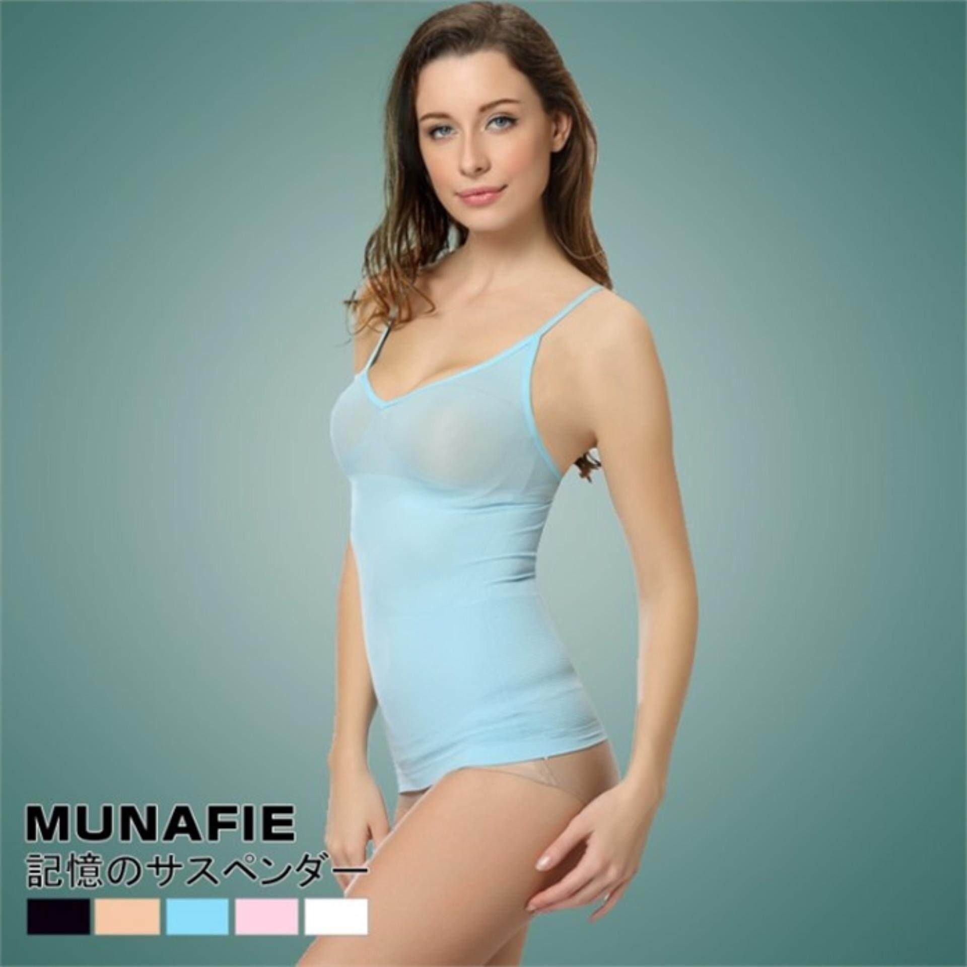 Japan ORI munafie single Waist Cincher Women's Under Bust Body Shape Wear - Blue Colour