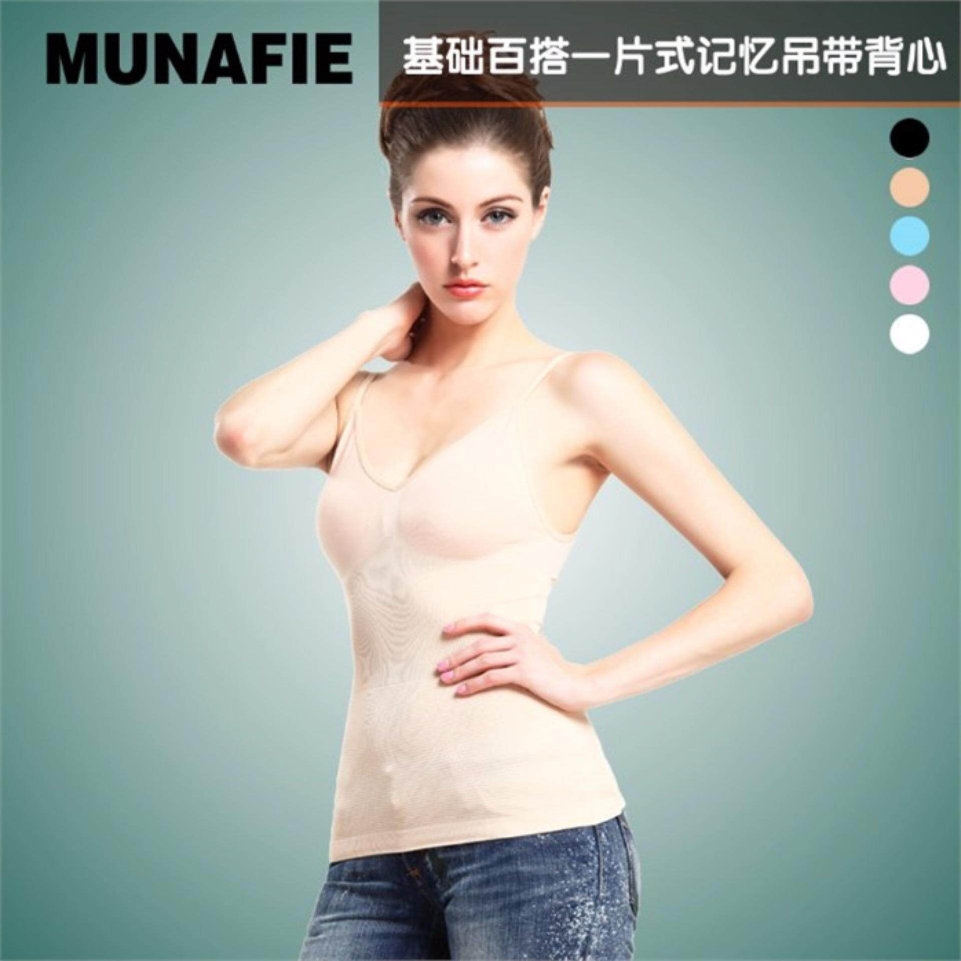 Japan ORI munafie single Waist Cincher Women's Under Bust Body Shape Wear - Skin Colour