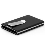 WLT-024 WINMAX RDIF Protection X-2 Elegant Fashion Credit Card Holder & Cash Clip [BLACK]