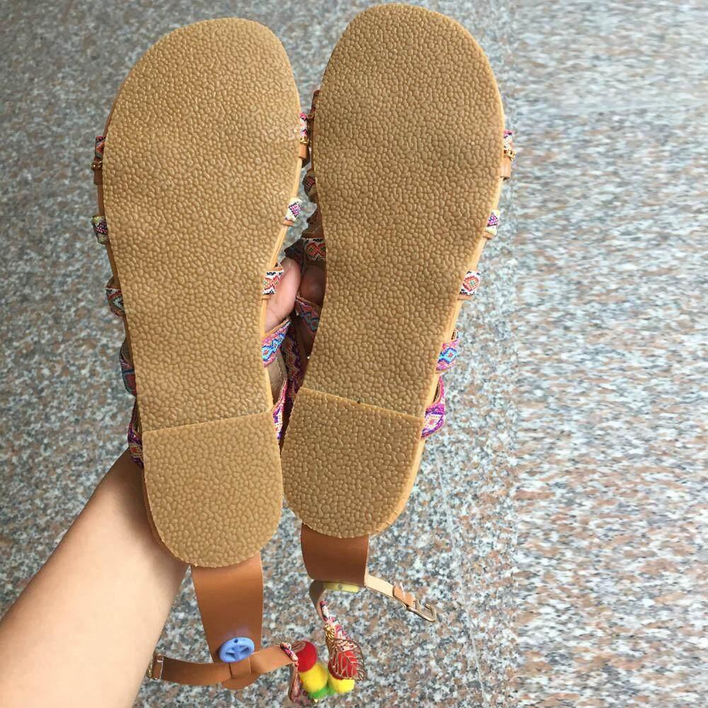 Harga Jual Jayasinar Sandal Wanita Wedges Jepit Pom Model Saandal Jjepit Terbaru 39900 Loafers Mules Macha Merah