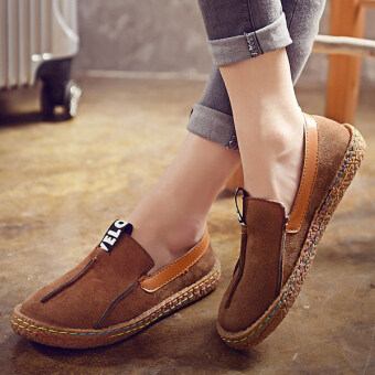 Harga Women Comfortable Hemp Bottom Frisherman Shoes Slip On Zapato Mujer loafer Round Toe espadrilles Flats Shoes