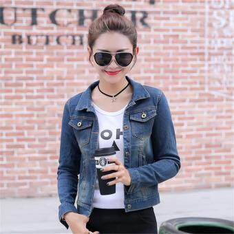 Harga Women Denim Jackets Long Sleeve Short Jeans Jacket Woman Denim Coat