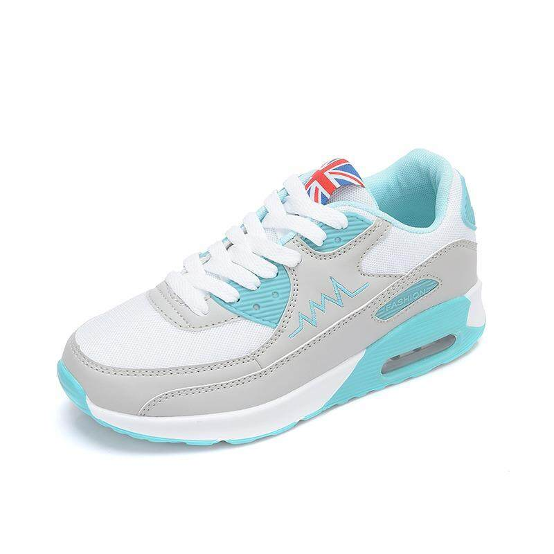 Women Fashion Air Cushion Sneakers Women Students Breathable Mesh Shoes Comfortable Running Shoes Within Increased Sports Shoes Intl Asli