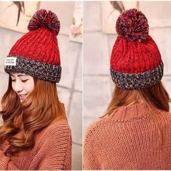 Women Fashion Winter Knitted Hat Casual Warm Bonnet Cloth Beanies Hat