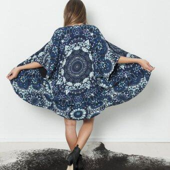 Women Floral Printed Long Kimono Cardigan - Intl | Lazada Malaysia