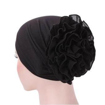 Women Flower Muslim Ruffle Hat Beanie Scarf Turban Head Wrap Cap