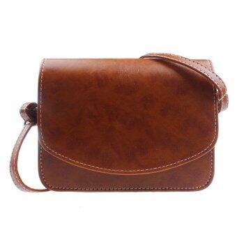 Women Imitation leather Shoulder Bag Satchel Handbag Retro Messenger Khaki