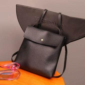 Women Leather Satchel Shoulder Backpack School Rucksack Bags Travel Black