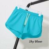 Women Leisure Short Pants - Sky Blue