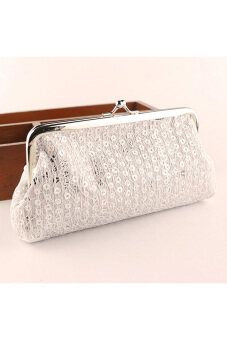 Harga Women Lovely Style Lady Wallet Hasp Sequins Purse Clutch Bag White