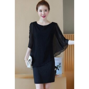 Harga WOMEN PLUS SIZE ONE PIECE SHIRT (BLACK)