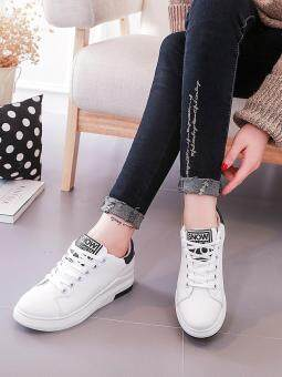 Women's Sport Shoes Simple Design Casual Sneakers (White) - 4