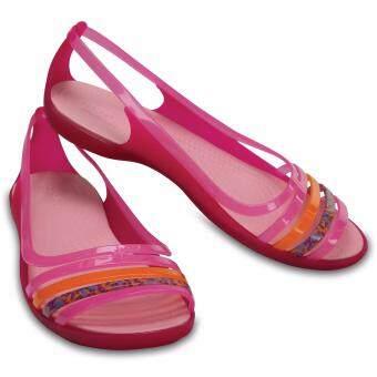 Women's Crocs Isabella Huarache Flat Ppk/Crl