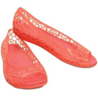 Women's Crocs Isabella Jelly Flat (Coral)