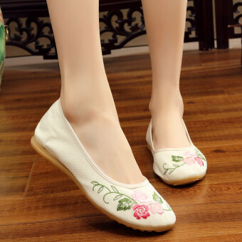 Harga Women's flower female square dance with flat with Chinese clothingshoes