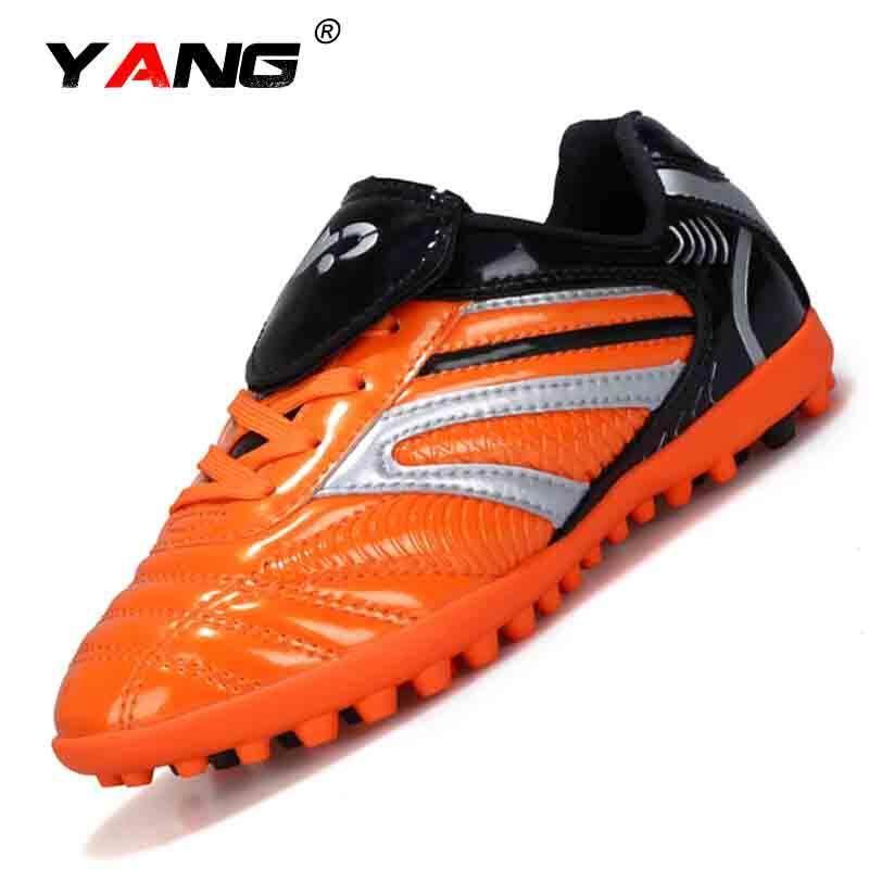 Yang 2017 Baru Luar Ruangan Sport Sepatu Sepatu Sneaker TF Pria Modis Sepatu Lari Kasut Futsal Lelaki (Oranye) (Tf)-Internasional