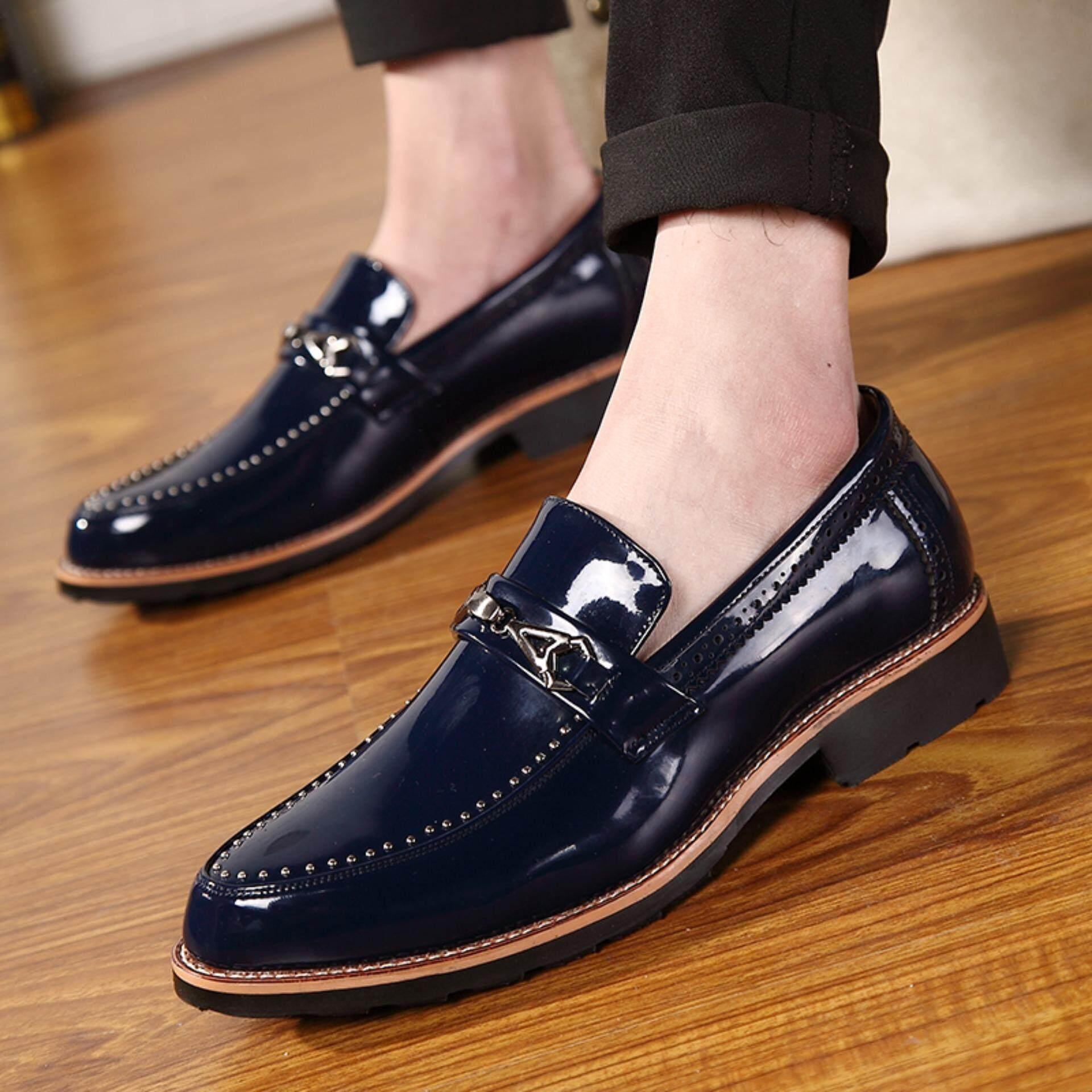 Detail Gambar Yealon Kasut Lelaki Kasut Kulit Hitam Pria Sepatu Kasual Pria  Formal Pernikahan Pary Sepatu 7a0c368215