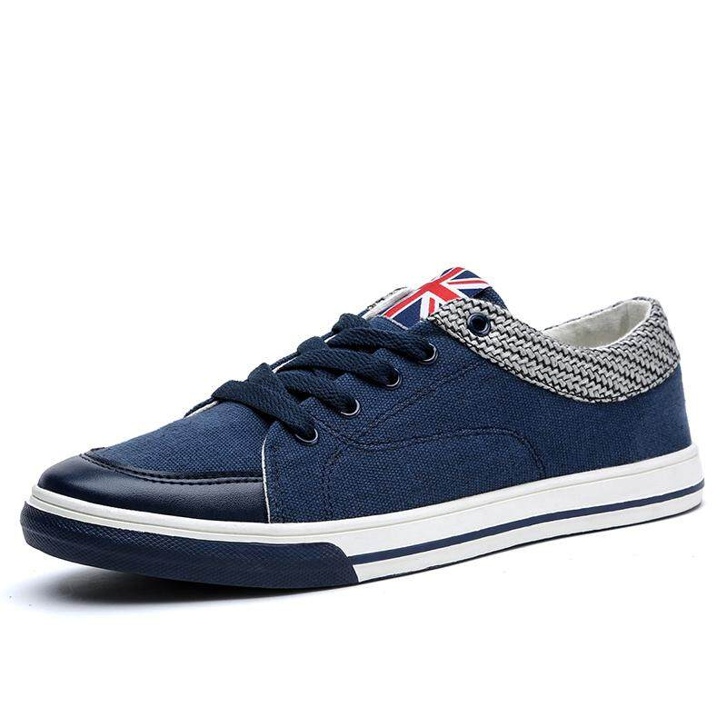 Diskon Yf Men Denim Canvas Sneakers Comfortable Cowboy Leisure Shoes Flats Board Shoes Intl Oem Di Tiongkok