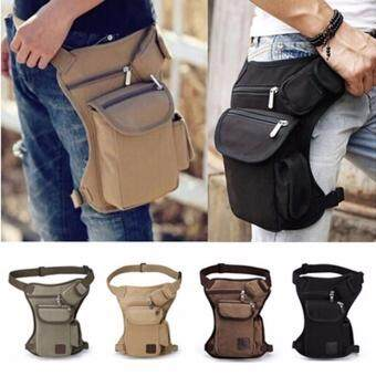 YingWei Multifunction Men Tactical Military Outdoor Pouch Sport LegThigh Bag Canvas Fanny Pack Purse for Travel Hiking Riding(ArmyGreen) - 2