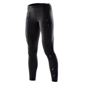 YJS Women 2Xu Professional Pants Trousers Compression Speed DryNylonstretch Fitness Pants (Black)